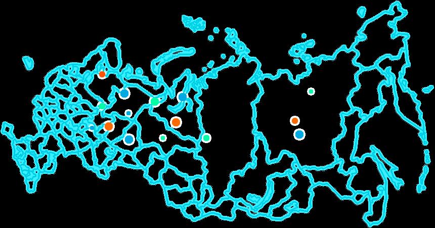 Карта экспедиций ЦПИ РГО